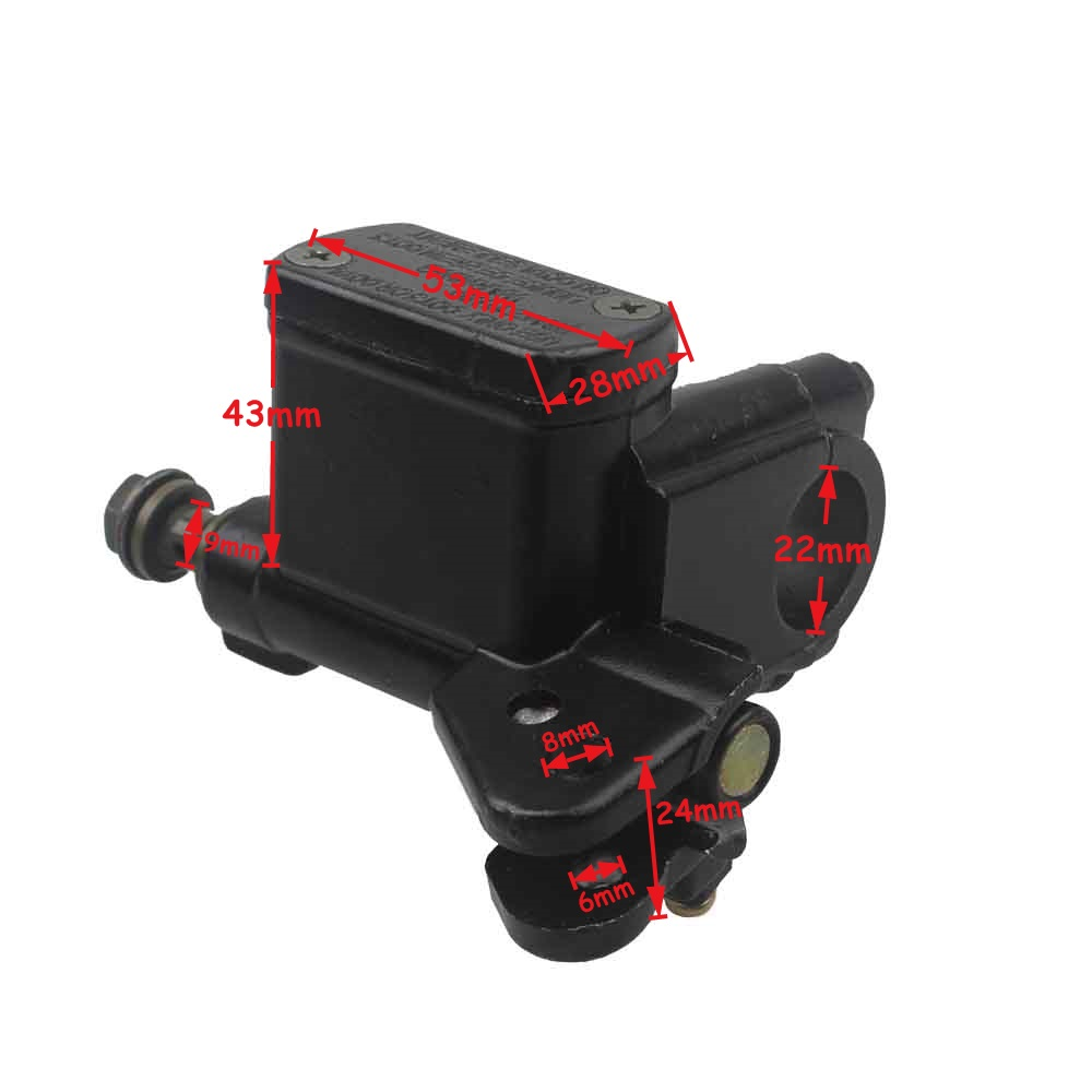 Wingsmoto Rear Foot Brake Master Cylinder Chinese ATV Quad 4 Wheeler 10mm Banjo Bolt